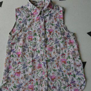H&M Floral Button Down Tunic